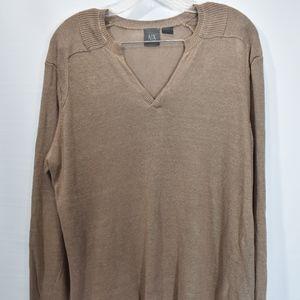Men's Armani Exchange Linen Sweater L (F43)